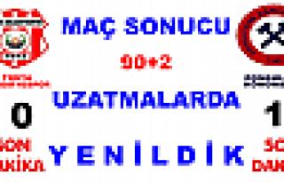 Tosya Belediyespor :0 -1 Zonguldak Kömürspor