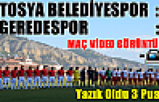 Tosya Belediyespor-Geredespor ile Puanları Paylaştı