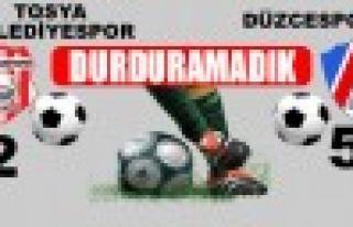 Tosya Belediyespor 2 - Düzcespor : 5