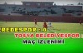 Tosya Belediyespor İlk Maçta İstediğini aldı