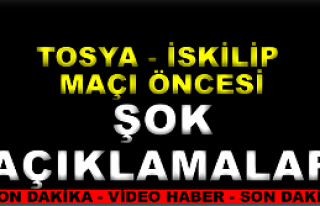 Tosya Belediyespor-İskilip Belediyespor Maç Öncesi...