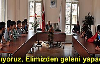 Tosya Belediyespor Oyuncuları Başkanı Ziyaret Etti