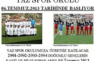 Tosya Belediyespor Yaz Futbol Okulu Kayıtları Başladı