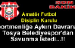 Tosya Belediyespor'dan Savunma İstendi