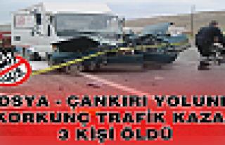 TOSYA-ÇANKIRI YOLUNDA TRAFİK KAZASI 3 ÖLÜ