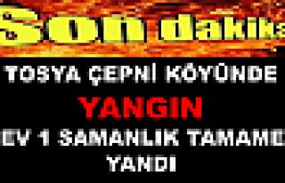 Tosya Çepni Köyünde YANGIN