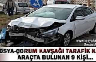 TOSYA-ÇORUM KAVŞAĞI TRAFİK KAZASI 9 KİŞİ
