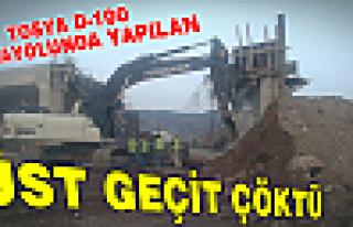 Tosya D-100 de Üst Geçit ÇÖKTÜ