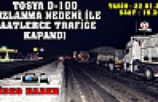 TOSYA D-100 TRAFİĞE KAPANDI