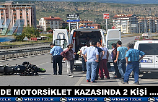 Tosya D-100'de Motorsiklet Kazası