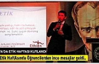 TOSYA'DA ETİK HAFTASI KUTLANDI