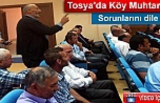 TOSYA'DA KÖY MUHTARLARI SORUNLARINI KAYMAKAMA...
