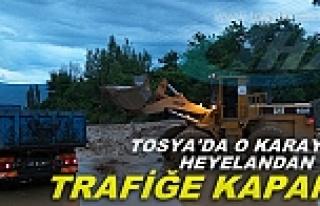 TOSYA'DA O KARAYOLUYOLU HEYELAN VE SELDEN TAMAMEN...