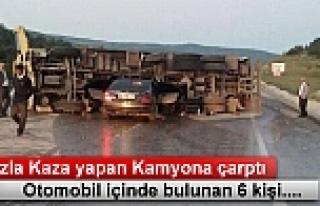 Tosya'da Trafik Kazasın Araç içinde 6 kişi...