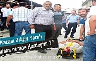 TOSYA'DA TRAFİK KAZASINDA CAN PAZARI YAŞANDI