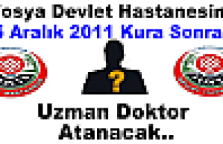 Tosya Devlet Hastanesine Yeni Doktor Ataması