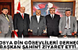 TOSYA DİN GÖREVLİLERİ DERNEĞİ BAŞKAN ŞAHİN'İ...