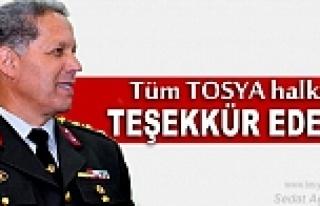 Tosya Garnizon ve Jandarma Komutanı Sefer Sezer'in...