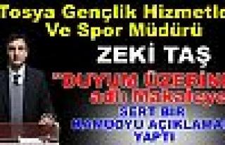 Tosya Gençlik Hizmetleri Ve Spor Müdürü KAMAOYU...