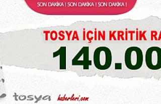 TOSYA İÇİN KRİTİK RAKAM 140 BİN