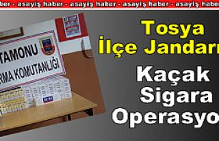 Tosya İlçe Jandarma Kaçak Sigara Operasyonu