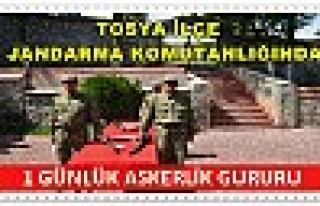 Tosya İlçe Jandarmada 1 Günlük Askerlik Gururu