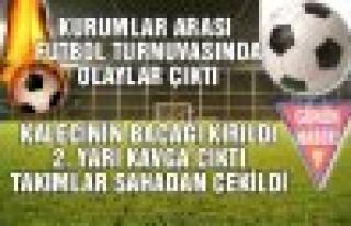 Tosya Kurumlar Arası Futbol Maçında Kavga Çıktı