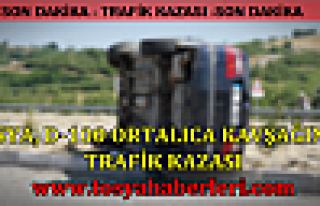 Tosya Ortalıca Kavşağında TRAFİK KAZASI