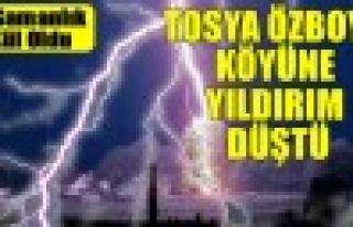 Tosya Özboyu Köyüne Yıldırım Düştü 3 Samanlık...
