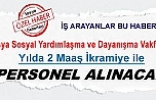 TOSYA SOSYAL YARDIMLAŞMA VAKFINA 2 MAAŞ İKRAMİYELİ...