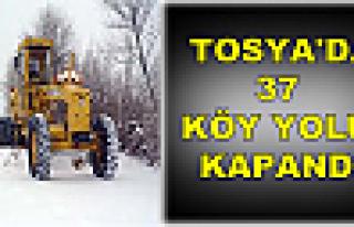 Tosya'da 37 Köy Yolu Kapandı