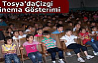 Tosya'da Çizgi Sinema Gösterimi
