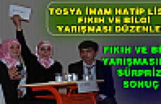 TOSYA'DA FIKIH VE BİLGİ YARIŞMASI YAPILDI.