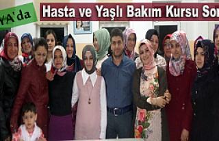 Tosya'da Hasta ve Yaşlı Bakım Kursu Sona Erdi