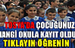 Tosya'da İlkokullara kayıtlar açıklandı