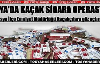 TOSYA'DA KAÇAK SİGARA OPERASYONU