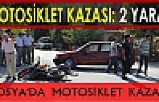 Tosya'da Motosiklet Kazası