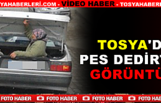 Tosya'da Otomobil Bagajında Tehlikeli Yolculuk