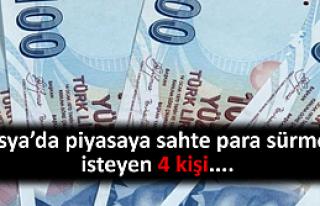 Tosya'da piyasaya sahte para sürmek isteyen 4 kişi...