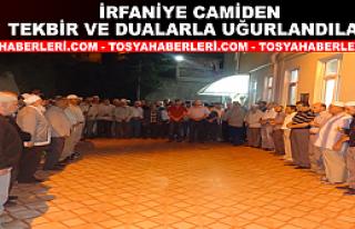 Tosya'da 21 Ümre Yolcusu Dualar İle uğurlandı