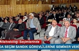 TOSYADA SEÇİM SANDIK GÖREVLİLERİNE SEMİNER VERİLDİ