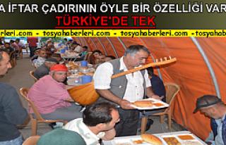 Tosya'da Son Defa Kurulan İftar Çadırına Sazı...