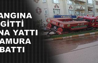 Tosya'da Yangına Gitti Yana Yattı
