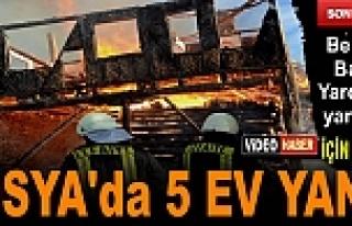 TOSYA'DA YANGINDA 5 EV TAMAMEN YANDI