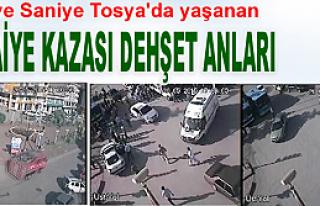TOSYA'DA YAŞANAN TRAFİK KAZASININ DEHŞET ANLARI