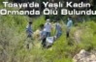 Tosya'da Yaşlı Kadın Ormanda Ölü Bulundu