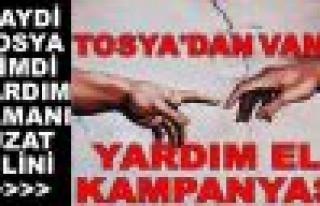 """""""Tosya'dan Van'a Yardım Eli"""" Kampanyası"""