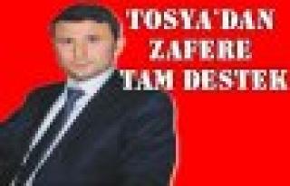 Tosya'dan Zafere Tam Destek