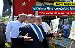 VALİ ŞEHMUS GÜNAYDIN TOSYA DOĞA SANAT KAMPINDA...