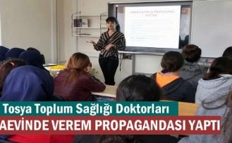 Tosya'da Doktorlar Cezaevine giderek 21 Mahkûma Verem Hastalığını anlattı
